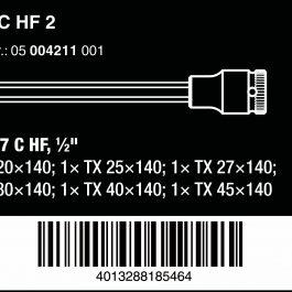 05004211001 8767 C TX HF 2 ZYKLOP BIT SOCKET SET