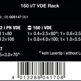 05006147001 160i/7 RACK SCREWDRIVER SET KRAFTFORM PLUS+VOLTAGE TESTER
