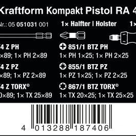 05051031001 KRAFTFORM KOMPAKT PISTOL RA 4 COMBI-DRIVER WITH MAGAZINE