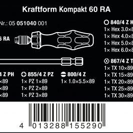 05051040001 KRAFTFORM KOMPACT 60RA POUCH WITH 89 MM BITS