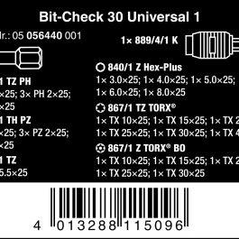 05056440001 BIT-CHECK 30 UNIVERSAL 1, BITS ASSORTMENT