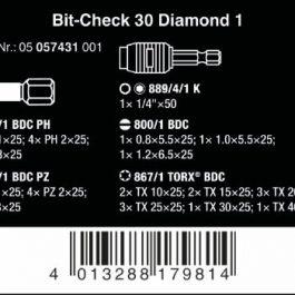 05057431001 BIT-CHECK 30 DIAMOND 1 BIT ASSORTMENT