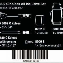05133862001 8002 C KOLOSS ALL INCLUSIVE SET WITH 1/2″ DRIVE AND ACCESSORIES