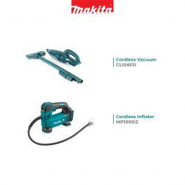 Makita – Cordless Inflator & Vacuum Cleaner