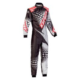 KS-2R OVERALL BLACK/SILVER/RED